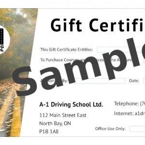 A-1 Gift Certificate